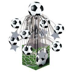 Mini Cascading Soccer Party Centerpiece