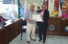 Ex-combatente da Segunda Guerra é homenageado pela Câmara Municipal de LP.>http://goo.gl/uVTn4J