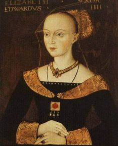 Portrait of Elizabeth Woodville , the White Queen at Queen's College Cambridge.