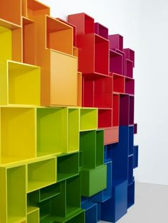 Cubits Moderne Flexible Regale Bunt Regenbogen Farben