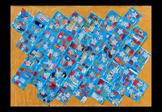 """Opera per l'VIII Biennale d'arte del Bambino di Treviso.  Realizzata dagli alunni di 2 A e B Primaria """"Forte 48"""" di San Donà di Piave - a.s. 2012  """"Il cielo con i colori di Maria"""""""