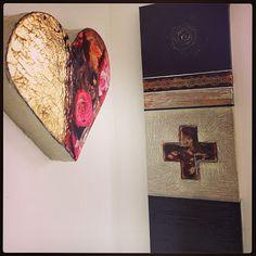 Cross & Heart Cross Heart, Pink Art, Art Work, Artwork, Work Of Art