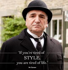 Sunday nights are so special with Downton Abbey. Season 5 is over and I miss the PBS series already. via I think Mr. Carson and Mrs. Gentlemans Club, Downton Abbey Season 1, Downtown Abbey Quotes, Downton Abbey Fashion, Drame, Comic, Best Tv, Movie Quotes, Movies