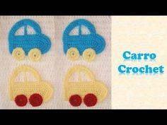 Souvenir coche para bebé tejido a crochet / Crochet baby stroller applique - YouTube