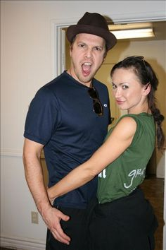 Gavin DeGraw and Karina Smirnoff on the set of DWTS