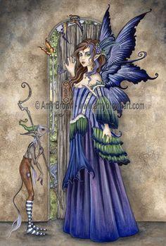 Forgotten Summer greetings card by Amy Brown. Fairy greetings card by fairy artist Amy Brown. Beautiful Fantasy Art, Beautiful Fairies, Fairy Dust, Fairy Land, Blue Fairy, Fairy Tales, Fantasy Wesen, Illustration Fantasy, Dragons