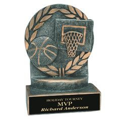 Basketball Trophies, Richard Anderson, Bookends, Resin