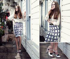 Katerina Kraynova - Sugarhill Skirt, Fendi Heels - Blue Iris