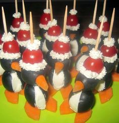Foodie Quine: Olive Santa Penguins Christmas Party Food Canapes Nibbles