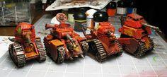 Dylan Gould's Hobby Works: Grot Tanks, Ork, Warhammer 40k