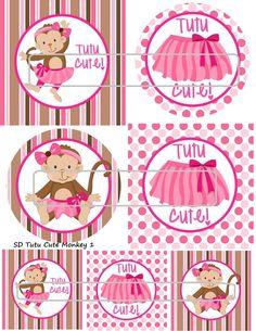 DIY Printable Tutu Cute Monkey 1 Shrinky Dinks by MaddieZee, $1.25