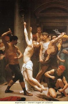 off Hand made oil painting reproduction of The Flagellation Of Christ, one of the most famous paintings by William-Adolphe Bouguereau. William-Adolphe Bouguereau concluded the dramatic artwork entitled The Flagellation of Christ in William Adolphe Bouguereau, Catholic Art, Religious Art, Roman Catholic, Image Jesus, Saint Jean Baptiste, Jesus Resurrection, Biblical Art, Jesus Pictures