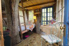 Magical treehouse within a fairytale garden