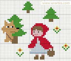 WR Artes (Blog do Wagner Reis): Gráfico CHAPEUZINHO VERMELHO ponto cruz