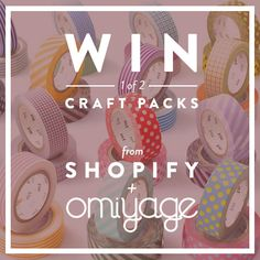 Win 1 of 2 $50 Craft Packs from Shopify and Omiyage, containing spring washi tapes. Click for details!