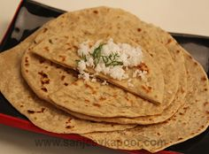 Coconut and Rice Parantha