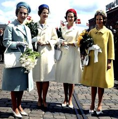 The Danish Royal Ladies-Queen Ingrid and Princesses Margrethe, Princes Benedikte, and Princess Anne-Marie