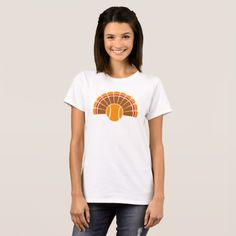 Tennis Thanksgiving Turkey Tail T-Shirt #SportsArtZoo #thanksgiving #tennis #t-shirt