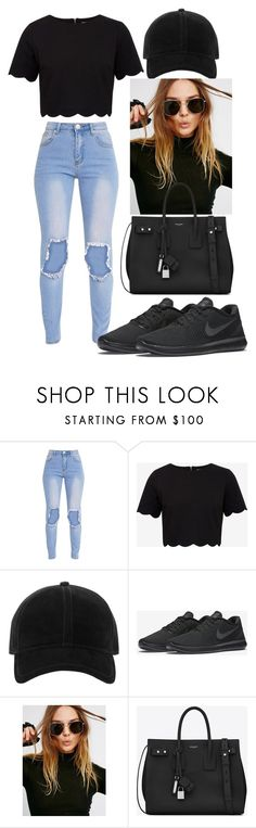 """""""Untitled #8"""" by barbarinatina ❤ liked on Polyvore featuring Ted Baker, rag & bone, NIKE, Free People and Yves Saint Laurent"""