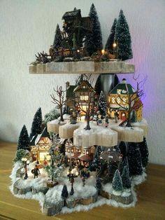 Zo gaaf! Een etagiare voor je kerstdorp.