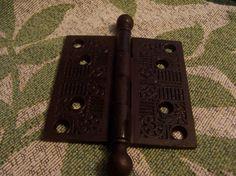 Antique 4 x 4 Round Top Cast Iron Door Hinge by doyourememberwhen, $30.00