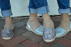 GLITTER ABARCAS MENORQUINAS  www.veranoshoes.com