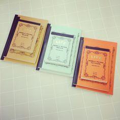 【ノート】LIFE大¥900、中¥800、小¥300/赤茶・無地、水・罫線、赤・方眼。メモ帳やスクラップブックとしても使える、ノートです。