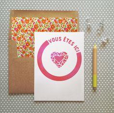 carte saint valentin à télécharger, la belette rose pour withalovelikethat