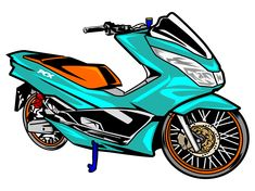 Motorcycle Art, Bike Art, Honda Pcx, Motorbike Design, Small House Design, Free Logo, Motorbikes, Graffiti, Thailand