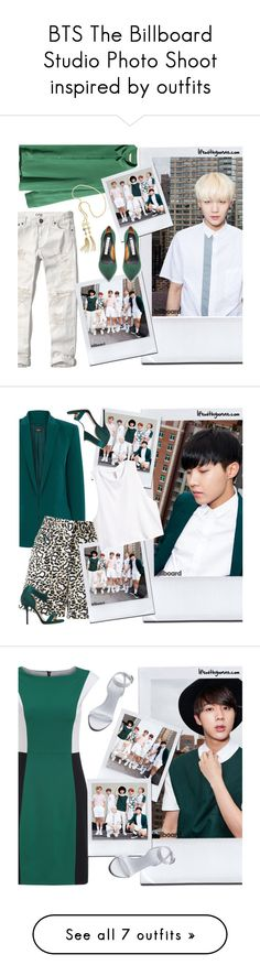 BTS The Billboard Studio Photo Shoot inspired by outfits by yooane on Polyvore featuring H&M, Abercrombie & Fitch, bts, BangtanBoys, Suga, bangtansonyeondan, minyoongi, Oasis, STELLA McCARTNEY and Paul Andrew