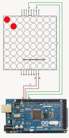 Theory of Controlling Diagonal LEDs of 8*8 LED Matrix using Arduino  http://www.learnerswings.com/2014/08/theory-of-controlling-diagonal-leds-of.html   8* led matrix tutorial, eight by eight led matrix tutorial, eight* eight led matrix pin out diagram and demonstration, eight/eight matrix working demonstration tutorial, anode and cathode pins of eight by eight led matrix,  best illustration of led matrix to arduino, connect led matrix to arduino, connection diagram of led matrix to arduino