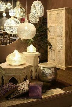 65 Creative interior design ideas from the 2012 Maison&Objet exhibition - Morrocan Lanterns as inspiration for the lanterns in the trees on the beach - Moroccan Design, Moroccan Decor, Moroccan Lanterns, Moroccan Lighting, Modern Moroccan, Moroccan Style Bedroom, Moroccan Room, Moroccan Furniture, Moroccan Wedding