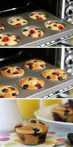 Grab-n-Go Pancake Muffins (use oat flour and frozen berries)