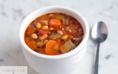 Easy Veggie and Cannellini Bean Soup [Vegan] | One Green Planet