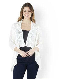 Clothes, Shoes & Accessories Debenhams Maine New England Ivory Textured Cardigan Size Uk 10 Lf089 Ff 09 Handsome Appearance