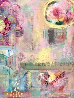 mixed media on board by Beth Nadler
