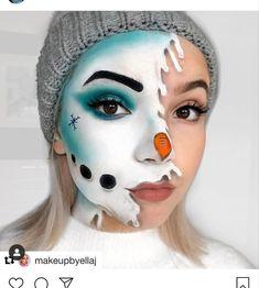 Face Paint Makeup, Eye Makeup Art, Skin Makeup, Eyeshadow Makeup, Eyelashes Makeup, Christmas Makeup Look, Holiday Makeup Looks, Winter Makeup, Maquillage Harry Potter