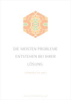 """Leonardo da Vinci - Zitat No. 2 Postkarten Set 1: """"Die meisten Probleme entstehen bei Ihrer Lösung""""   Leonardo Da Vinci"""