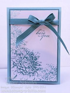 Blooming with Kindness - quick and easy cards for any occasion. For get well, thinking of you, thank you, birthday - anything ... just one stamp set and one ink pad. Click for all the details and product list