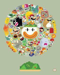 Petit résumé de Super Mario World