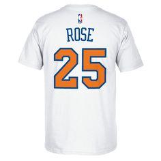 Men's Adidas New York Knicks Derrick Rose Player Tee, Size: Medium, White
