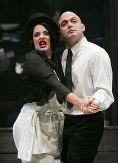 Patti LuPone & Michael Cerveris in Sweeney Todd. My first Broadway show. I had 1st row seats. Got spat on throughout the entire show by these two beyond talented people. It was AWESOME.