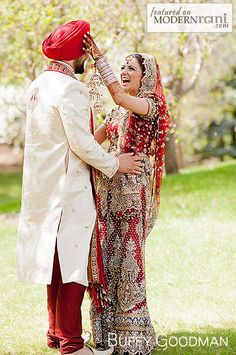 Sikh Wedding - more inspiration @ http://www.ModernRani.com