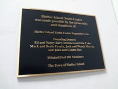 Custom cast bronze metal plaque with raised copy and border in satin bronze finish, background recessed and painted black leatherette texture in NYC. For more information on custom plaque signs, visit http://www.PlaquesNewYork.com