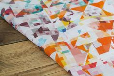Northmore Minor Linen a wild and colourful geometric print, designed by the very talented Rachel Parker for Flock. Linen printed in the UK. Picnic Blanket, Outdoor Blanket, Interior Design Process, Fabric Online, Flocking, Fabric Design, Colours, Quilts, Inspiration
