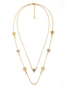 Triangle Pave Layer Necklace