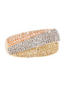 Fine Jewelry Ring Tri-Color Diamond Ring