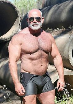 Bear body builder hairy mature muscle