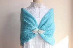 Turquoise Cape-Turquoise Blue Crochet Bridal Cape /Blue Wedding Wrap Shrug Bolero/Hand Crochet Sparkle Mohair Scarf with Pearl Rhinestone-Ready to ship. This cape is handcrafted and designed to be the perfect addition to any wardrobe and makes a wonderful gift. Perfect for layering through three season of the year... Wedding capelet that can be worn in many different ways. This hand- crochet capelet is a great shoulder cover-up. This beautiful capelet is extra soft and very elastic. it…