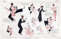 Paul Dufau 1926 Charleston Black Dancers